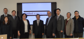 IFEZA Commissioner Wonjae Lee and IFEZA staff with Stanford faculty and staff