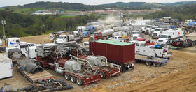 A hydraulic fracturing drill site in southwestern Pennsylvania. (Image credit: Doug Duncan, USGS)